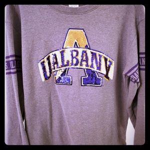 Pink collegiate pullover